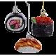 Set van 3 Sushi Kerstballen Ø 6,5CM