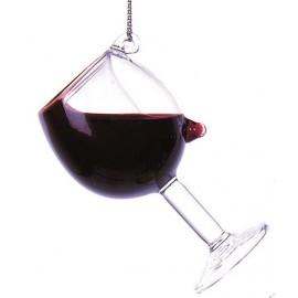 Kerstbal Glas Rode Wijn