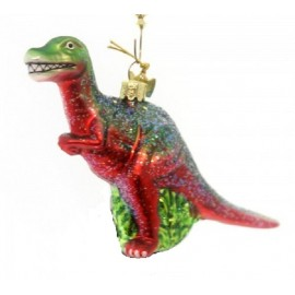 Kerstbal Velociraptor Rood