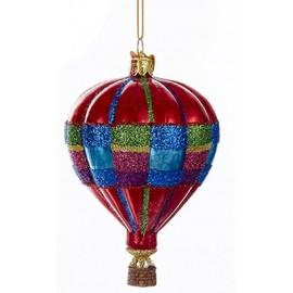 Kerstbal Luchtballon Rood-multicolour