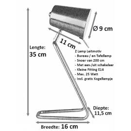 Bureau/tafellamp Z Lamp Zilver
