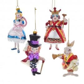 Kerstballen set van 4 Alice in Wonderland