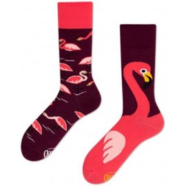 Many Mornings MisMatch Sokken Pink Flamingo's