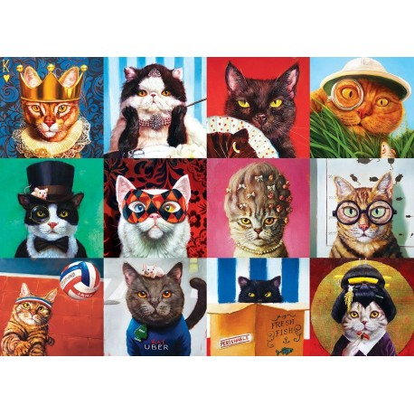 Puzzel Funny Cats 1000st.