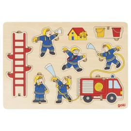 Houten Puzzel  De Brandweer - Goki