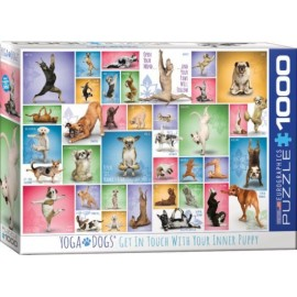 Puzzel Yoga Dogs1000st.