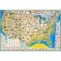 Leg Puzzel Wildlife Map 2000st
