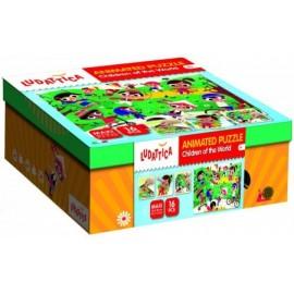 Puzzel Kinderen van de Wereld met Wiebeloogjes