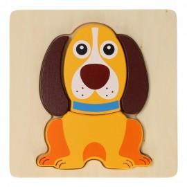 Houten Puzzel Dieren Hond Joueco