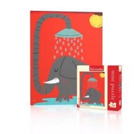 Mini Puzzel Elephant 20st.
