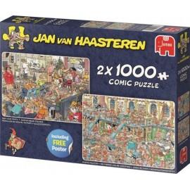 Fijne Feestdagen Jan van Haasteren 2 x 1000st.