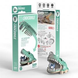 Kartonnen 3D Puzzel Krokodil