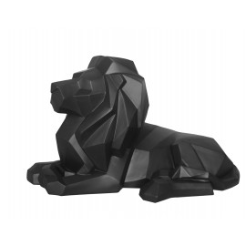 Beeld Origami Leeuw mat zwart