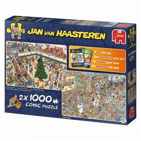 Puzzel Kerstkoopjes Jan van Haasteren 2 x 1000st