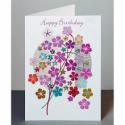 Happy Birthday Pink Flowers