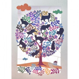 Tree full of cats