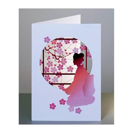 Japanese lady & Blossom