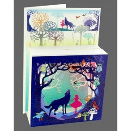 Magic Box Card Girl and Wolf