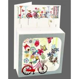 Magic Box Card Floral Bicycle