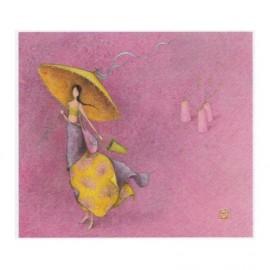 Enkele kaart Femme parasol