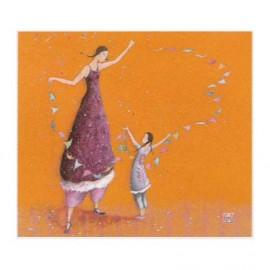 Enkele kaart Femme et enfant