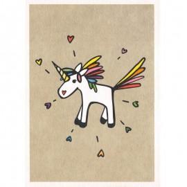 Ansichtkaart Unicorn