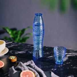 Set van 4 Stapelbare Glazen Koifish blauw