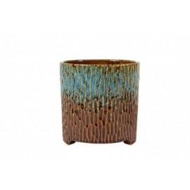 Pot Carice blauw-bruin D16
