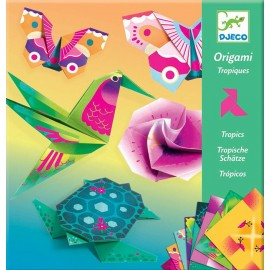 Djeco Knutselpakket Origami Tropische Dieren