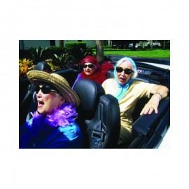 Fotokaart Elderly Woman Convertible