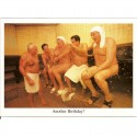 Fotokaart Men in Steambath