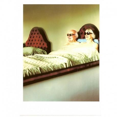 Fotokaart Old Couple in Bed