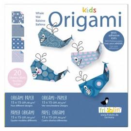 Kids Origami Walvis