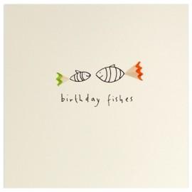 Dubbele kaart Birthday Fishes
