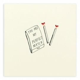 Dubbele kaart Valentine Perfect Match