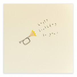 Dubbele kaart Birthday Trumpet