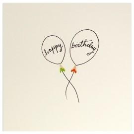 Dubbele kaart Birhtday Balloons