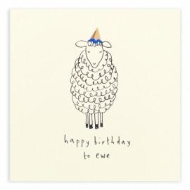 Dubbele kaart Birthday Ewe