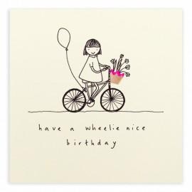 Dubbele kaart Birthday Wheelie