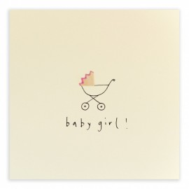 Dubbele kaart Baby Girl Pram