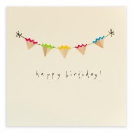 Dubbele kaart Birthday Bunting