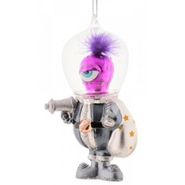Kerstbal Space Alien met glazen helm