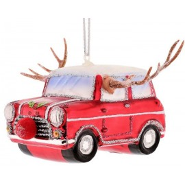 Kerstbal Auto met gewei