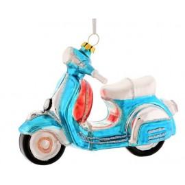 Kerstbal Scooter blauw
