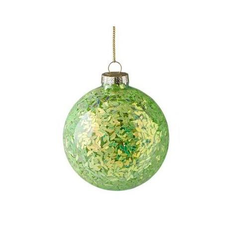 Kerstbal Seoul groene glitters