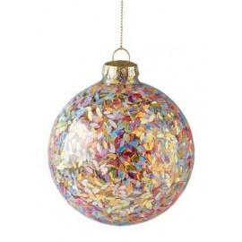 Kerstbal Seoul multicolour glitters