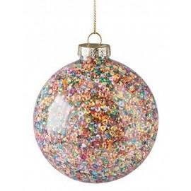 Kerstbal Multicolour glitters