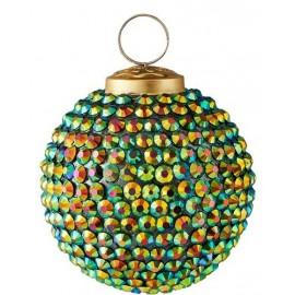 Kerstbal Groene steentjes
