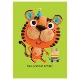 Dubbele kaart Tiger & Cake