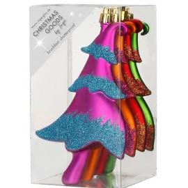 Set van 4 Onbreekbare Kerstballen Kerstboom